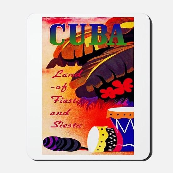 Cuba Travel Poster 3 Mousepad