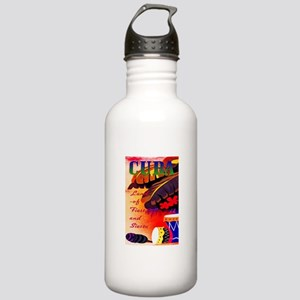 Cuba Travel Poster 3 Stainless Water Bottle 1.0L