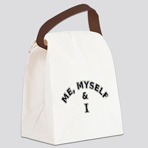 Me Myself And I Typography Canvas Lunch Bag