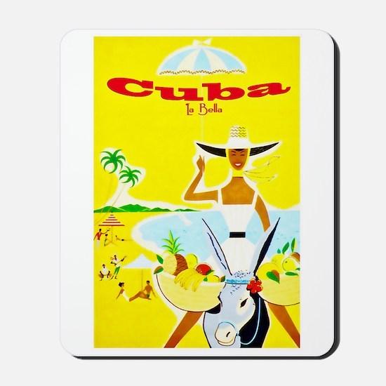Cuba Travel Poster 4 Mousepad