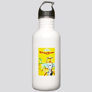 Cuba Travel Poster 4 Stainless Water Bottle 1.0L