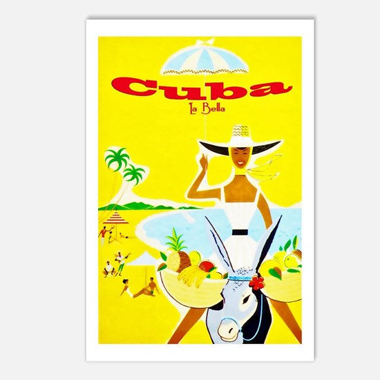 Cuba Travel Poster 4 Postcards (Package of 8)
