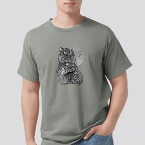 Tiger and Cub (B/W) Mens Comfort Colors Shirt