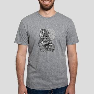Tiger and Cub (B/W) Mens Tri-blend T-Shirt