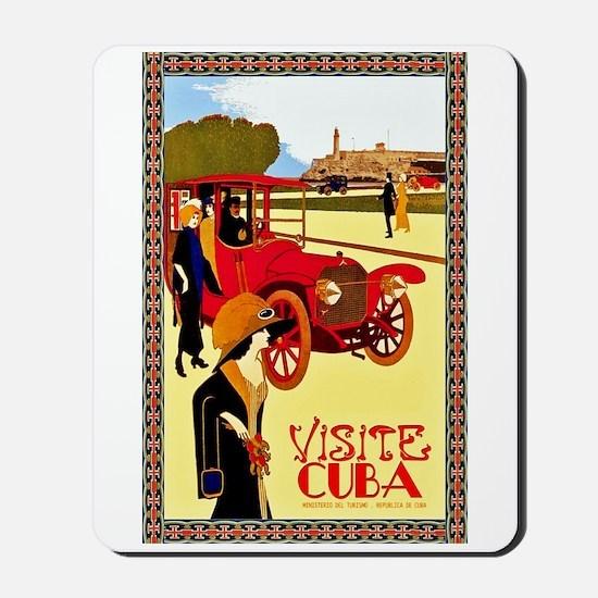 Cuba Travel Poster 10 Mousepad