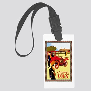 Cuba Travel Poster 10 Large Luggage Tag