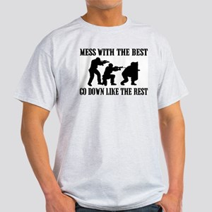 SWAT the Best Ash Grey T-Shirt