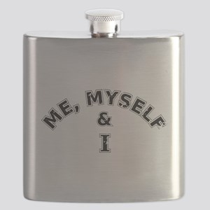 Me Myself And I Typography Flask