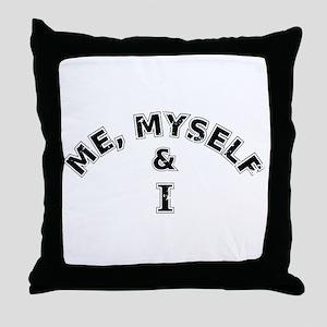 Me Myself And I Typography Throw Pillow
