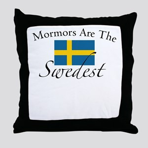 Mormors are the Swedest Throw Pillow
