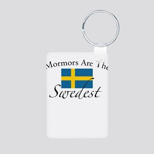 Mormors are the Swedest Aluminum Photo Keychain