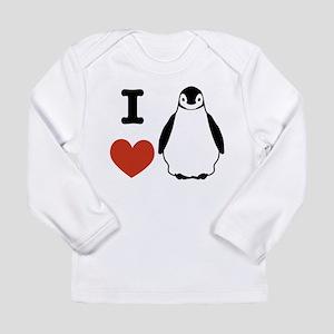 I love Penguins Long Sleeve Infant T-Shirt