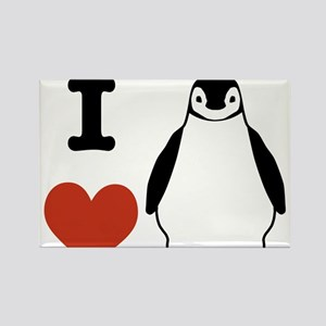 I love Penguins Rectangle Magnet