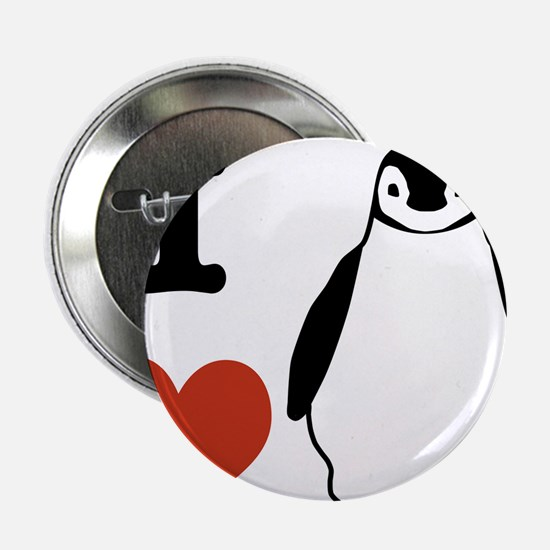 "I love Penguins 2.25"" Button"