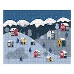 Winter Village 500 Piece Large Puzzle