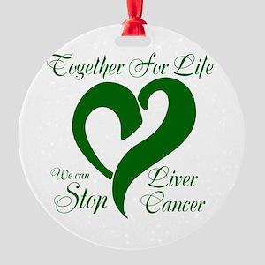 Stop Liver Cancer Round Ornament