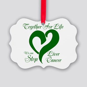 Stop Liver Cancer Picture Ornament