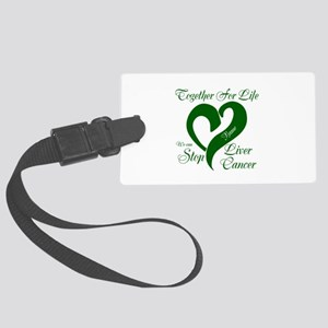 Personalize Stop Liver Cancer Large Luggage Tag
