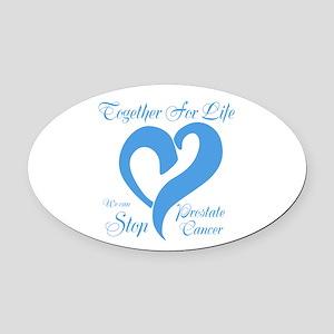 Stop Prostate Cancer Oval Car Magnet