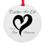 Stop Melanoma Round Ornament