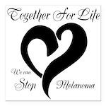 Stop Melanoma Square Car Magnet 3