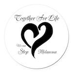 Stop Melanoma Round Car Magnet