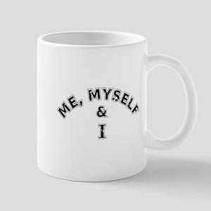 Me Myself And I Typography Mugs
