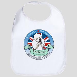 Brittanya for Mucky Pups logo Bib