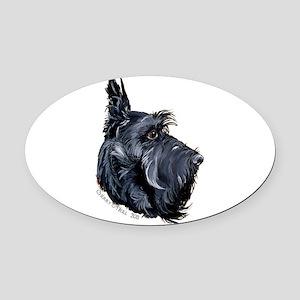 Scottish Terrier Alert! Oval Car Magnet