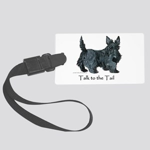 Scottish Terrier Attitude Large Luggage Tag