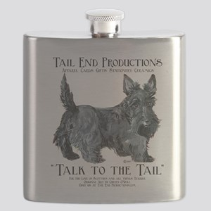 Scottie Logo Tail End Flask