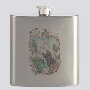 Love My Scotties Flask