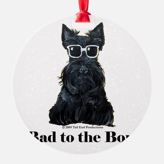 Scottie Bad to the Bone Ornament
