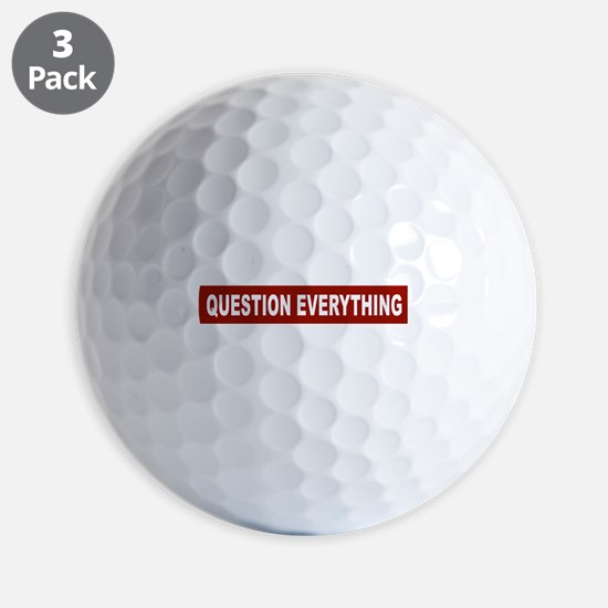 Question Everything - Red Golf Ball