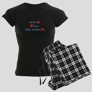 PeaceLoveSilkyTerriers Women's Dark Pajamas