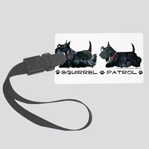 Squirrel Patrol 19x8 trans Large Luggage Tag
