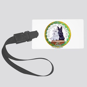 Scottie logo button Large Luggage Tag