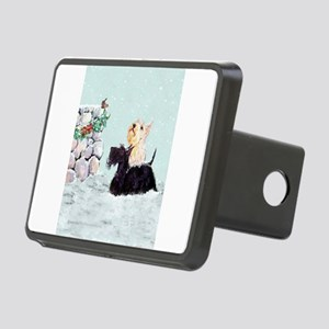 Scotties and Wren Winter Rectangular Hitch Cover