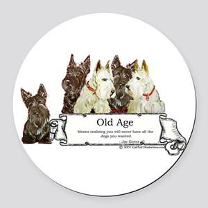 Old age 2 mug Round Car Magnet
