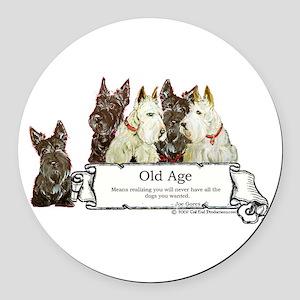 Old age 2 mug.png Round Car Magnet