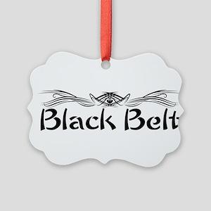 Martial Arts Black Belt Picture Ornament