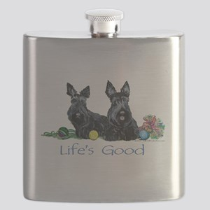 Lifes Good 13x6 Flask