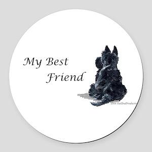 Best Friend 11x11 Round Car Magnet