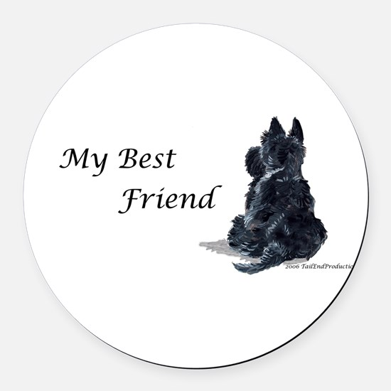 Best Friend 11x11.png Round Car Magnet