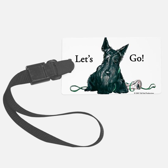 Scottie lets go with paper 8x8.png Luggage Tag