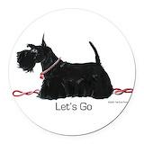 Scottie dog Round Car Magnets