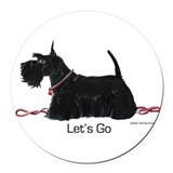 Scottish terrier Round Car Magnets