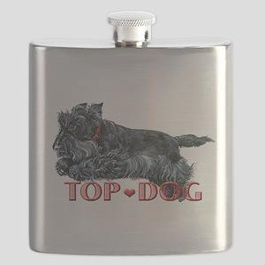 top dog hat scottie flat Flask