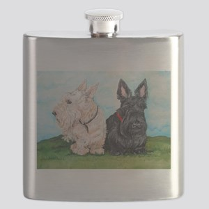 Scottish Terrier Companions Flask