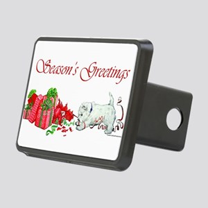 Seasons Greetings Rectangular Hitch Cover